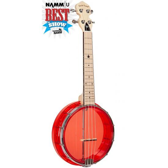 Little Gem (Ruby): See-Through Banjo-Ukuleles