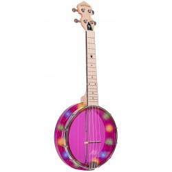 Lightup Little Gem (Amethyst): See-Through Banjo-Ukuleles with Lights