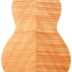 ResoMaple: Concert-Scale Curly Maple Resonator Ukulele with Gig Bag
