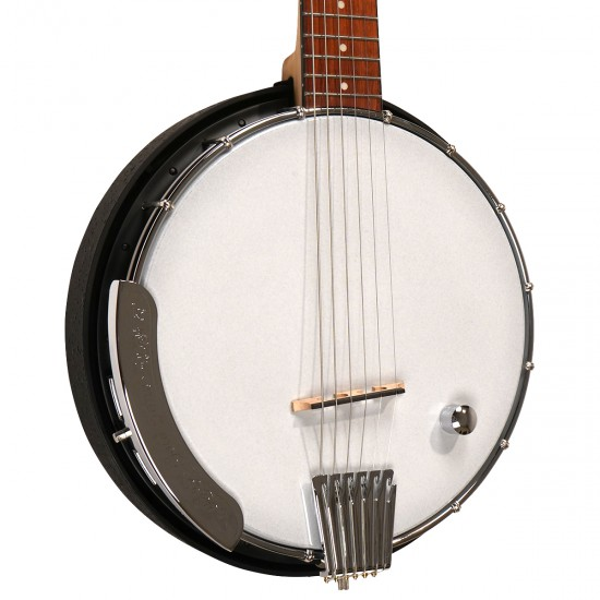 AC-6Plus: Acoustic Composite Banjo Guitar with Pickup and Gig Bag